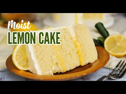 Moist Lemon Cake with Lemon Curd Drip