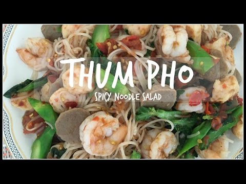How to make THUM PHO | THUM MUA | SPICY NOODLE SALAD | House of X Tia | Lao Food