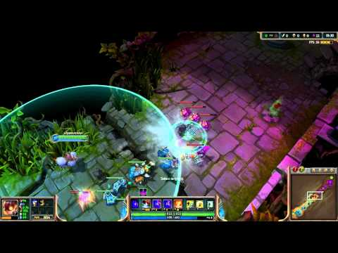 League of legends, skin snow day ziggs dia nevado, español
