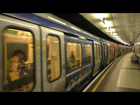 (HD) London Underground S Stock in 'The Heart Of Russia' livery S Stock departs Embankment