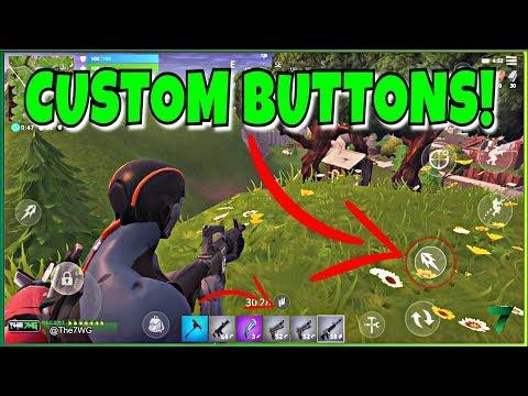 CUSTOM BUTTONS IN FORTNITE MOBILE! NEW BUTTON ADDED!!   Fortnite Mobile
