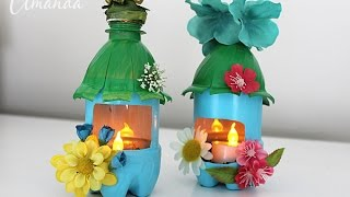 Plastic Bottle Fairy House Night Lights