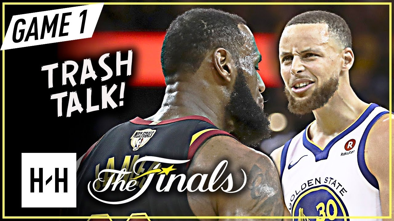 LeBron James vs Stephen Curry INTENSE Game 1 Duel Highlights (2018 NBA Finals) - TRASH Talking!