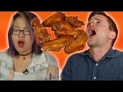 People Try The Hot Wing Challenge