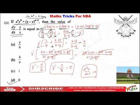 NDA Maths Tricks Part 12 | Calculus