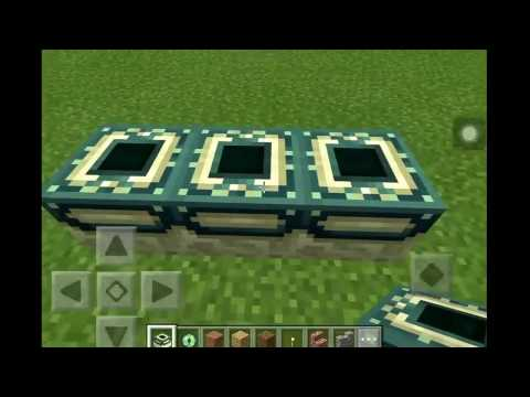 How to make an end portal in mcpe 1.0.0 (ios/android)