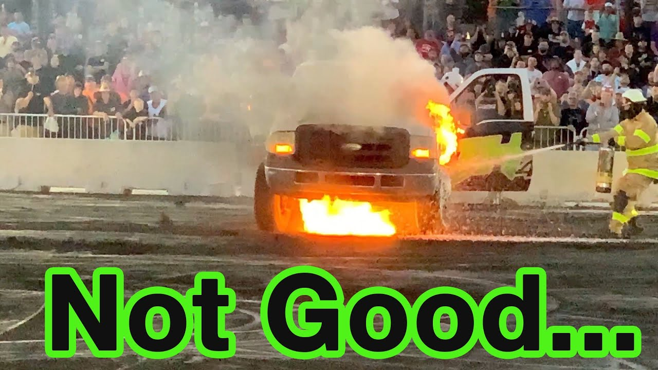 Biggest Fail Yet!! Huge Fire During our Burnout at Cleetus and Cars Bradenton!!!