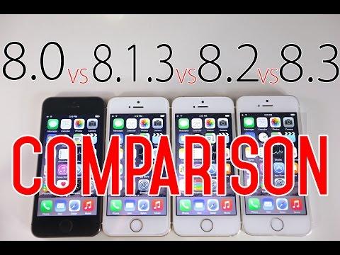 iOS 8.3 vs iOS 8.2 vs iOS 8.1.3 vs iOS 8.0 - Speed Comparison Review