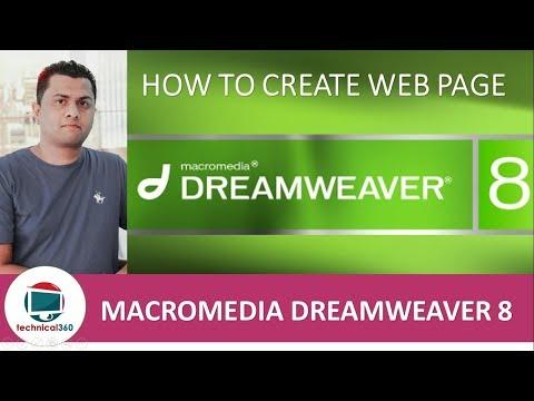 How to create web page in macromedia dreamweaver 8