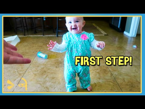 Sierra Takes Her First Steps