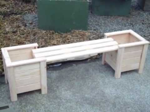 planter boxes with bench.