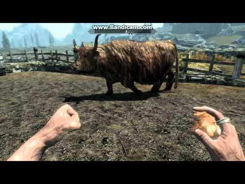 Epic Skyrim Moonwalk cow!!