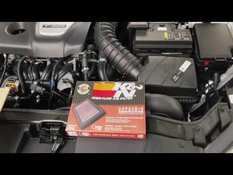 2017 Hyundai Elantra Sport K&N Filter Install and Sound Comparison