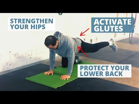 Gluteus Medius Exercise for Stronger Hips - 4 Point Hip Abduction