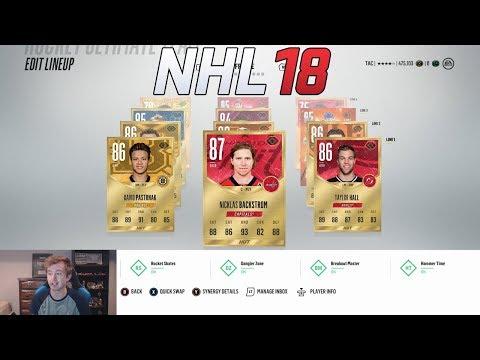 NHL 18 HUT - MY FIRST TEAM BUILD