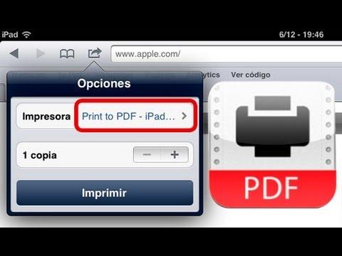 Print to PDF Impresora virtual iPad / iPhone