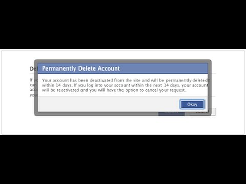 how to delete your  facebook account temporarily or permanently full walkthrough - 2015