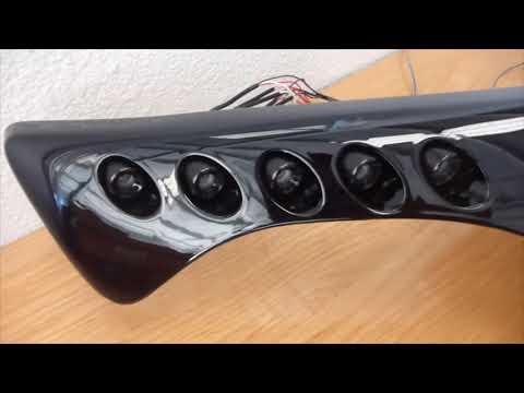 Nissan Juke Custom Fiberglass Front Grille w/Switchback DRLs &  LED Bar