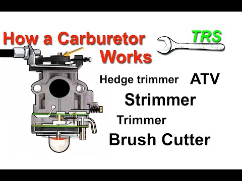 Crash course - How a Two Stroke Cycle Petrol Strimmer Carburetor Works/Primer Bulb