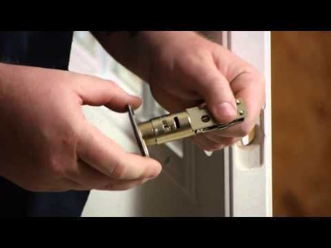 How to Replace a Front Door Lock With a Keyed Deadbolt : Door Installation & Repairs