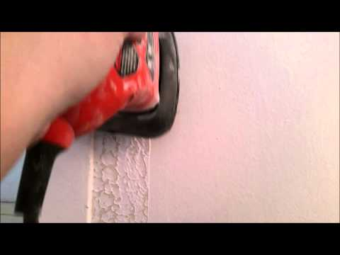 How to remove decorative plaster from walls