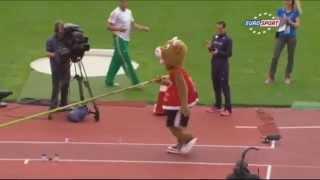 Mascot Pole Vaults at the European Athletics Championships