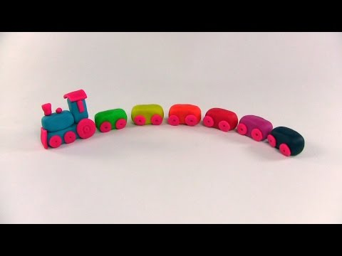 how to make train with play doh