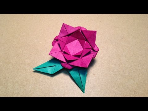 Origami Flower Instructions / Rose / Easy for children