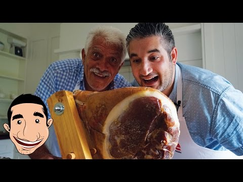 HOW TO SLICE A PROSCIUTTO WITH A KNIFE | Cutting Prosciutto di Parma | ITALIAN PROSCIUTTO