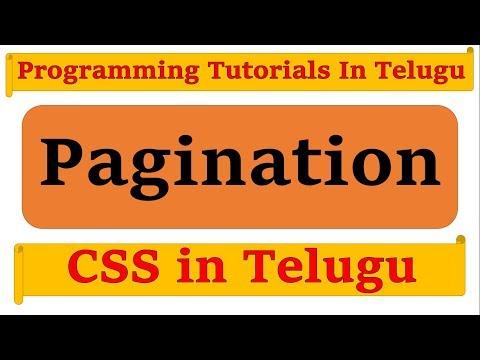 Pagination Using CSS in Telugu by Kotha Abhishek
