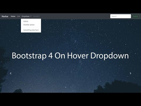 bootstrap 4 dropdown on hover - Bootstrap 4 tutorial