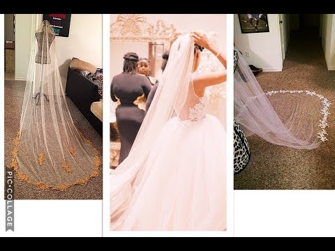 MAKE YOUR OWN CHAPEL LENGTH VEIL & SAVE $$$ | WEDDING DIY