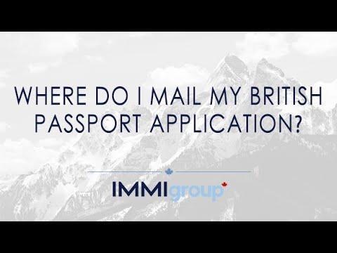 Where do I mail my British passport application?