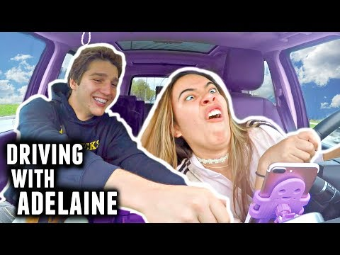 DRIVING WITH ADELAINE! Boyfriend And Girlfriend Rap Battle | Carpool With Adelaine Morin