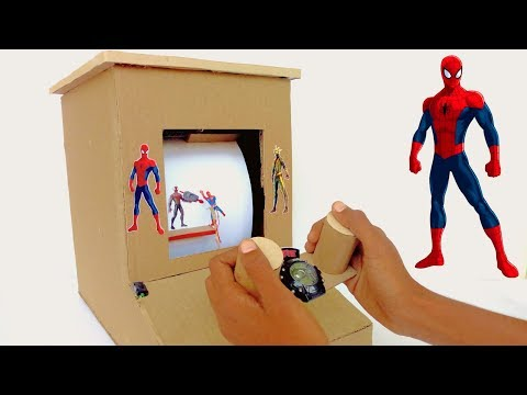 How to make Spiderman Desktop Game from Cardboard