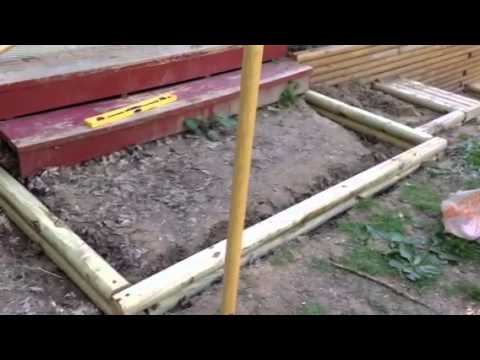 Landscaping Timber Retaining Walls and Stairs