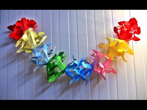 Decorations made out of paper