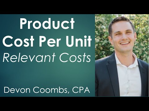 Product Cost per Unit - Determine Relevant Costs - CSUN Gateway Managerial Accounting - Problem 13