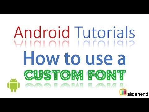 71  How to use Custom Font in your App |