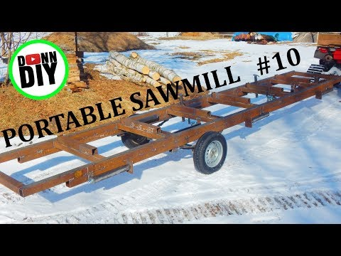 Homemade Portable Band Sawmill Build #10 - Finished Trailer