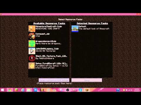How to install a Minecraft texture pack for 1.7.9