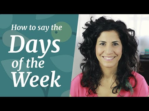 DAYS OF THE WEEK | How to Pronounce