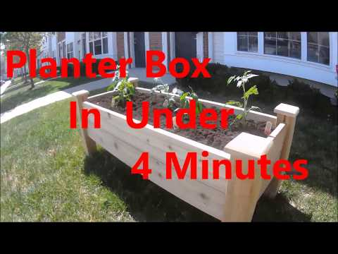 Planter Box In Under 4 Minutes
