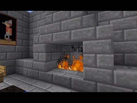 Minecraft Hidden Fireplace door! 100% confirmed to work on Xbox and PC