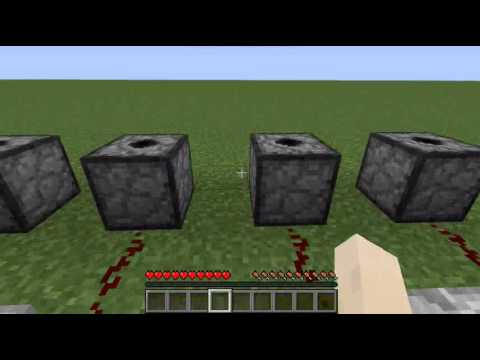 Minecraft - How to make Simple and Auto Firework Launcher Machine