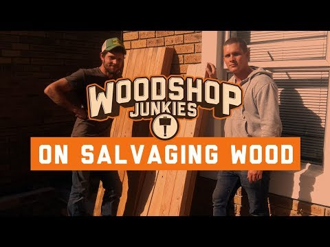 Salvaging wood to make rustic reclaimed wood furniture.