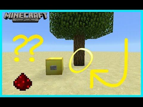 Mcpe Redstone Tutorial : The Hidden Tree Door (Secret Entrance)