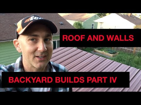 Backyard Build: Building a Tea House—Part 4: Roof and Walls