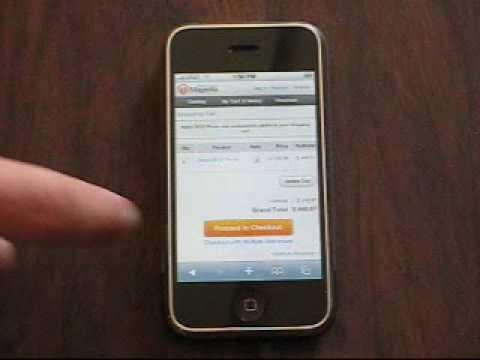 Magento iphone app