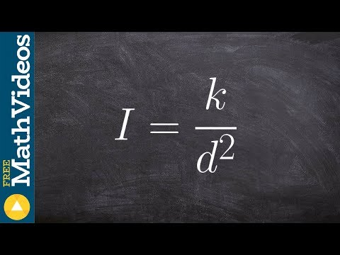 Pre-Calculus - Determine if a function is power function and what is the constant and power, I=k/d^2